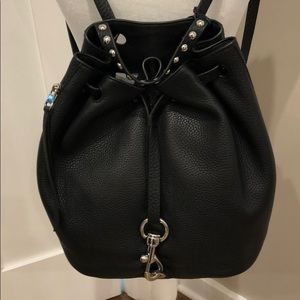 NWT Rebecca Minkoff Blythe backpack black leather